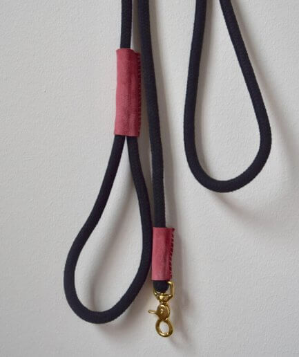 Dog leashes rope black pink