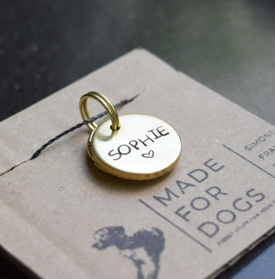 Coole Hundemarke mit Namen