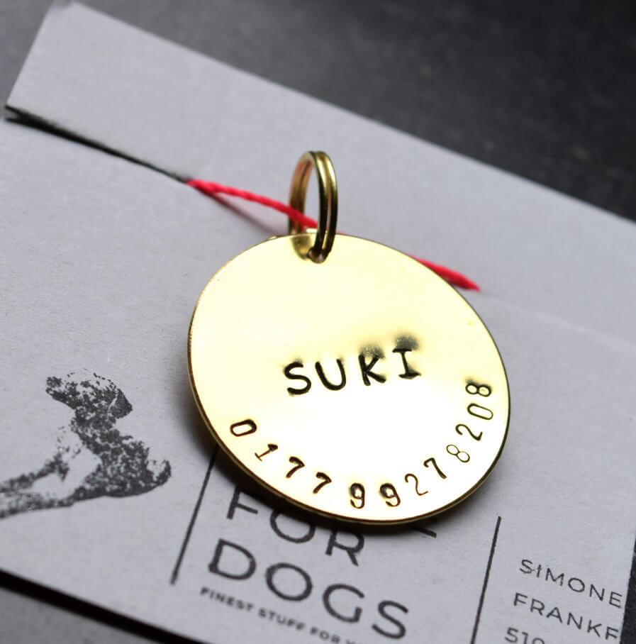 Hundemarke mit Namen